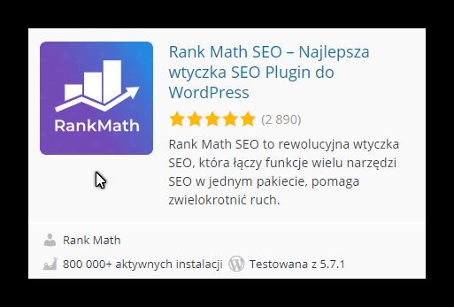 Rank Math SEO – Najlepsza wtyczka SEO Plugin do WordPress