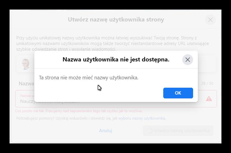 Nazwa użytkownika nie jest dostępna