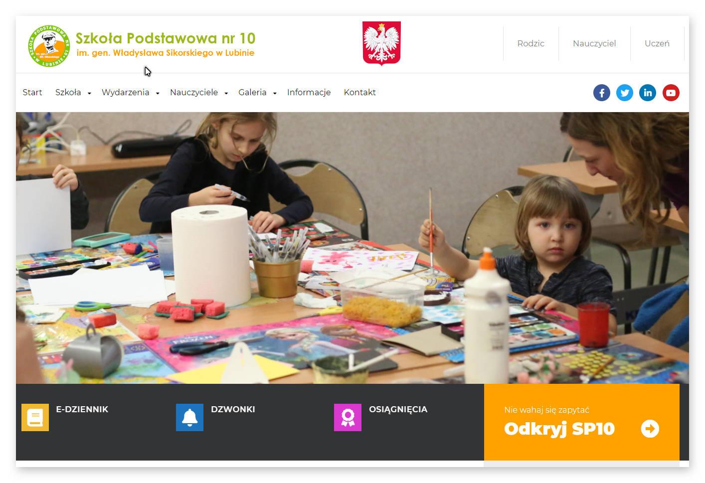 WordPress – projekt strony szkolnej